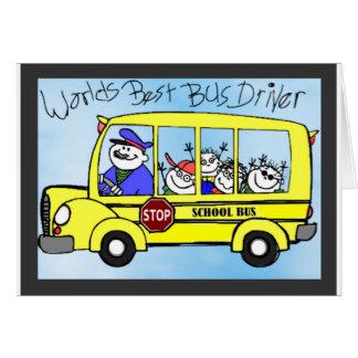 Presentes da apreciação do condutor de autocarro cartão