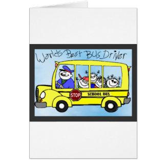 Presentes da apreciação do condutor de autocarro cartão comemorativo