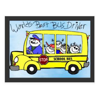 Presentes da apreciação do condutor de autocarro cartão postal