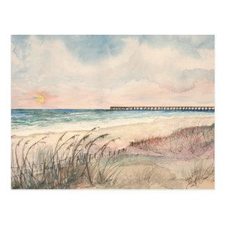 Presentes da arte da praia do Seascape Cartão Postal