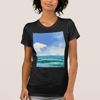 Presentes da arte do surf das ondas da praia do camisetas