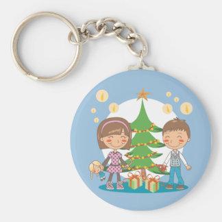 Presentes da árvore de Natal Chaveiro