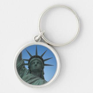 Presentes da liberdade da lembrança de New York da Chaveiro Redondo Na Cor Prata