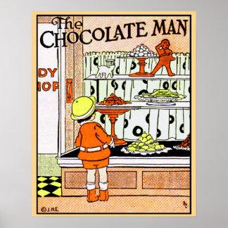 Presentes da loja de doces da loja do chocolate do pôster