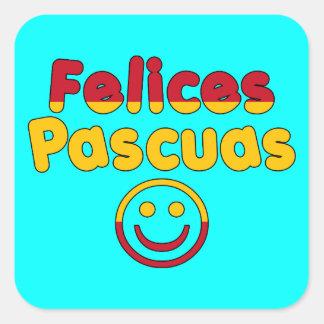Presentes da páscoa para auto-falante espanhóis adesivo quadrado
