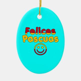 Presentes da páscoa para auto-falante espanhóis ornamento de cerâmica oval