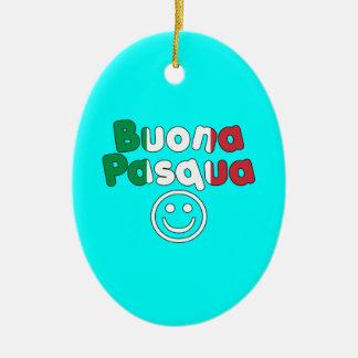 Presentes da páscoa para auto-falante italianos: ornamento de cerâmica oval