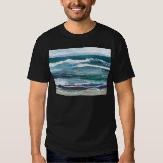 Presentes da praia das ondas do mar do grilo - tshirts