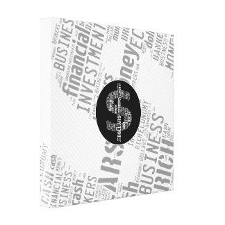 Presentes datilografados dinheiro do negócio do impressão em tela