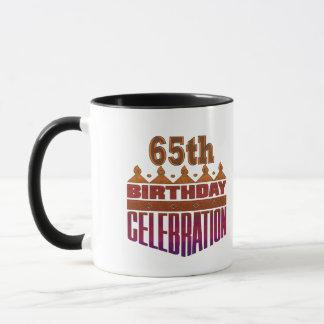 Presentes de aniversário da celebração 65th caneca
