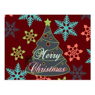 Presentes de época natalícia dos flocos de neve da cartões postais