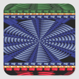 PRESENTES decorativos coloridos da arte do botão Adesivo Quadrado