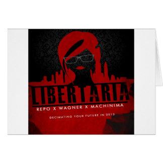 Presentes do filme da arte de Libertaria Cartão