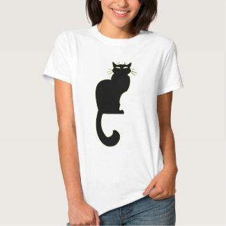 Presentes do gato preto da camisa do gato das camisetas