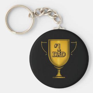 Presentes do pai do número um para ele chaveiros