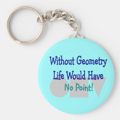 Presentes do professor de geometria chaveiro