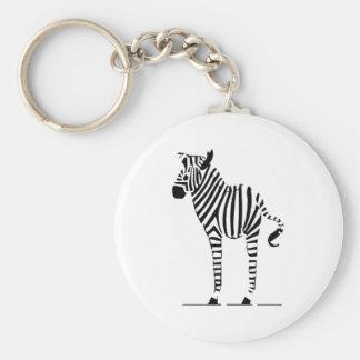 Presentes dos amantes da zebra chaveiro
