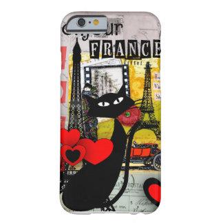 Presentes dos amantes do gato da torre Eiffel de Capa Barely There Para iPhone 6