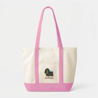 Presentes e mercadoria de cocker spaniel bolsa de lona