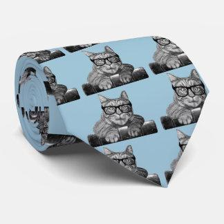 Presentes engraçados do geek do vintage gravata