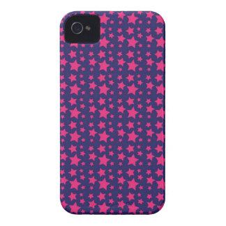 Presentes femininos do teste padrão de estrelas do capas para iPhone 4 Case-Mate