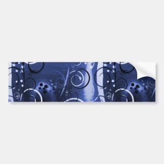 Presentes femininos florais abstratos do azul de í adesivo para carro