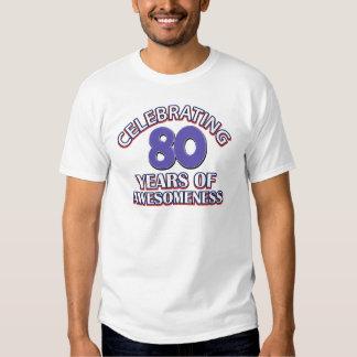 Presentes impressionantes das pessoas de 80 anos t-shirt