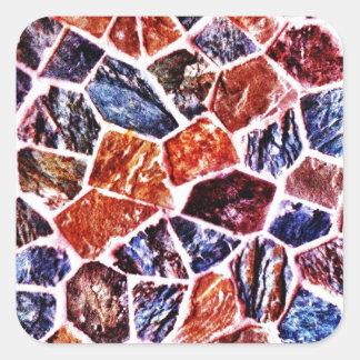 Presentes impressos do azulejo de mosaico teste adesivo quadrado