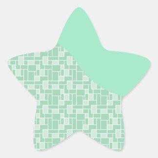 Presentes macios bonito do teste padrão do azulejo adesivos estrelas