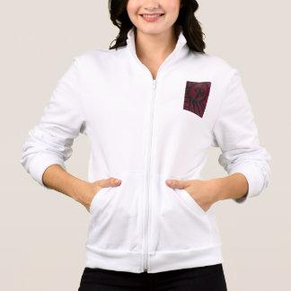 Presentes originais - o basculador branco das jaqueta estampada