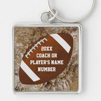 Presentes personalizados do futebol para jogadores chaveiro quadrado na cor prata