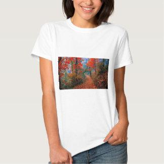 Presentes pintados da aguarela da chama do outono camiseta