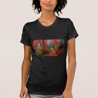 Presentes pintados da aguarela da chama do outono t-shirt