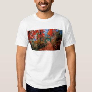 Presentes pintados da aguarela da chama do outono t-shirts