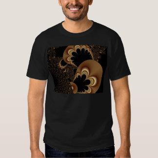 Presentes pretos da arte do Fractal da pétala da Tshirts
