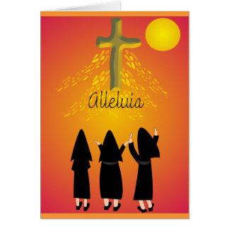"""Presentes religiosos católicos do """"Alleluia"""" Cartão Comemorativo"""