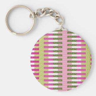Presentes verdes cor-de-rosa bonito do design da e chaveiro