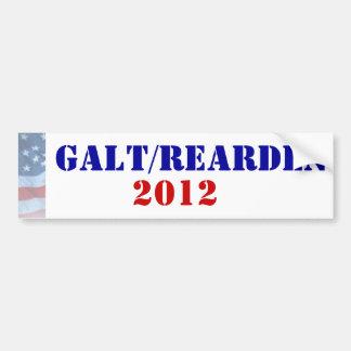 Presidente 2012 de Galt/Rearden Adesivo Para Carro