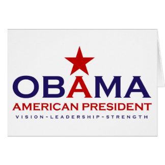 Presidente americano Obama Cartão De Nota