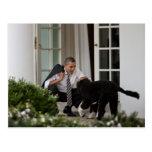 Presidente Barack Obama com BO Cartão Postal