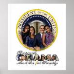 Presidente Barack Obama e ?a família Posteres