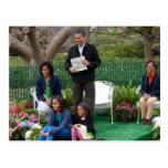Presidente Barack Obama & família Cartões Postais
