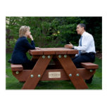 Presidente Barack Obama & Hillary Clinton Cartão Postal