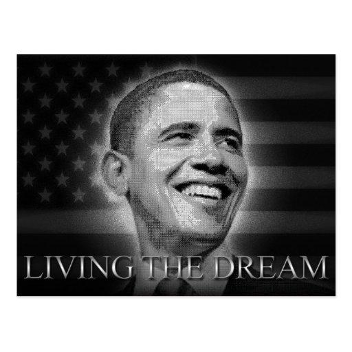 Presidente Barack Obama - vivendo o sonho Cartão Postal