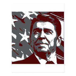 Presidente de Ronald Reagan 40th dos EUA Cartão Postal
