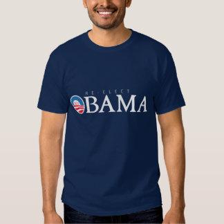Presidente Obama 2012 do RE-ELECT (camisa escura) T-shirts