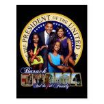 Presidente Obama & primeiro cartão da família Cartoes Postais