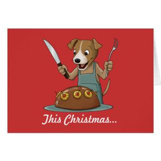 Presunto ele acima do cartão de Natal