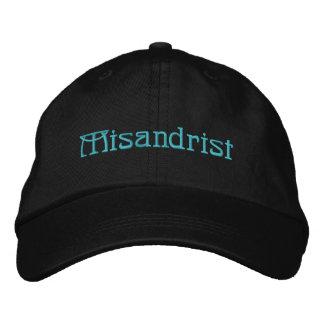 Preto ajustável personalizado do chapéu de boné bordado