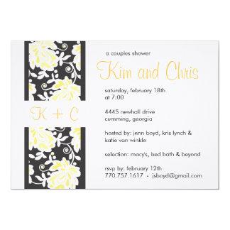 Preto & amarelo do convite do chá dos casais do